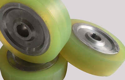 Покрытие колес, роликов  полиуретаном